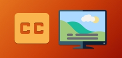 clip art of closed caption logo and tv with captions