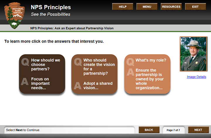 screenshot of an interactive page where you can ask an expert