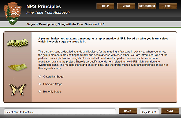 screenshot of a quiz page redesigned